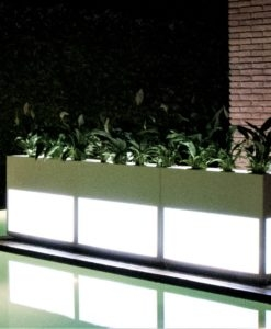 Beacon Illuminating Separation Wall Stainless Steel Planter