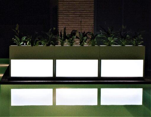 Planter Beacon Illuminating Separation Wall