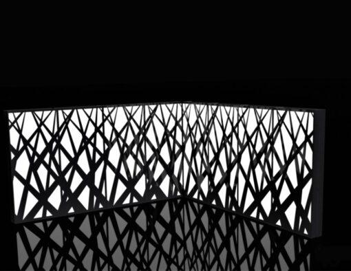Planter Meadow Illuminating Separation Wall