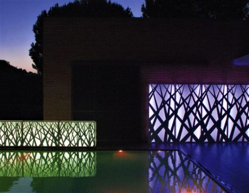 Meadow Illuminating Separation Wall Planter Stainless Steel