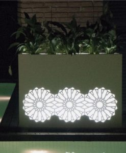 Planter Sunflower Illuminating Separation Wall