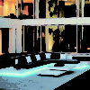 rausch air modern platform sofa white black fiberglass elements coffee table configuration couture outdoor luxury designer contract hotel design led luminate light illuminate 10