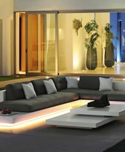 Air Platform Modular Sectional Sofa LED lights by Rausch