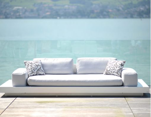 rausch classics international air modern platform sectional modular sofa white black fiberglass elements configuration couture outdoor luxury designer contract hotel design led light