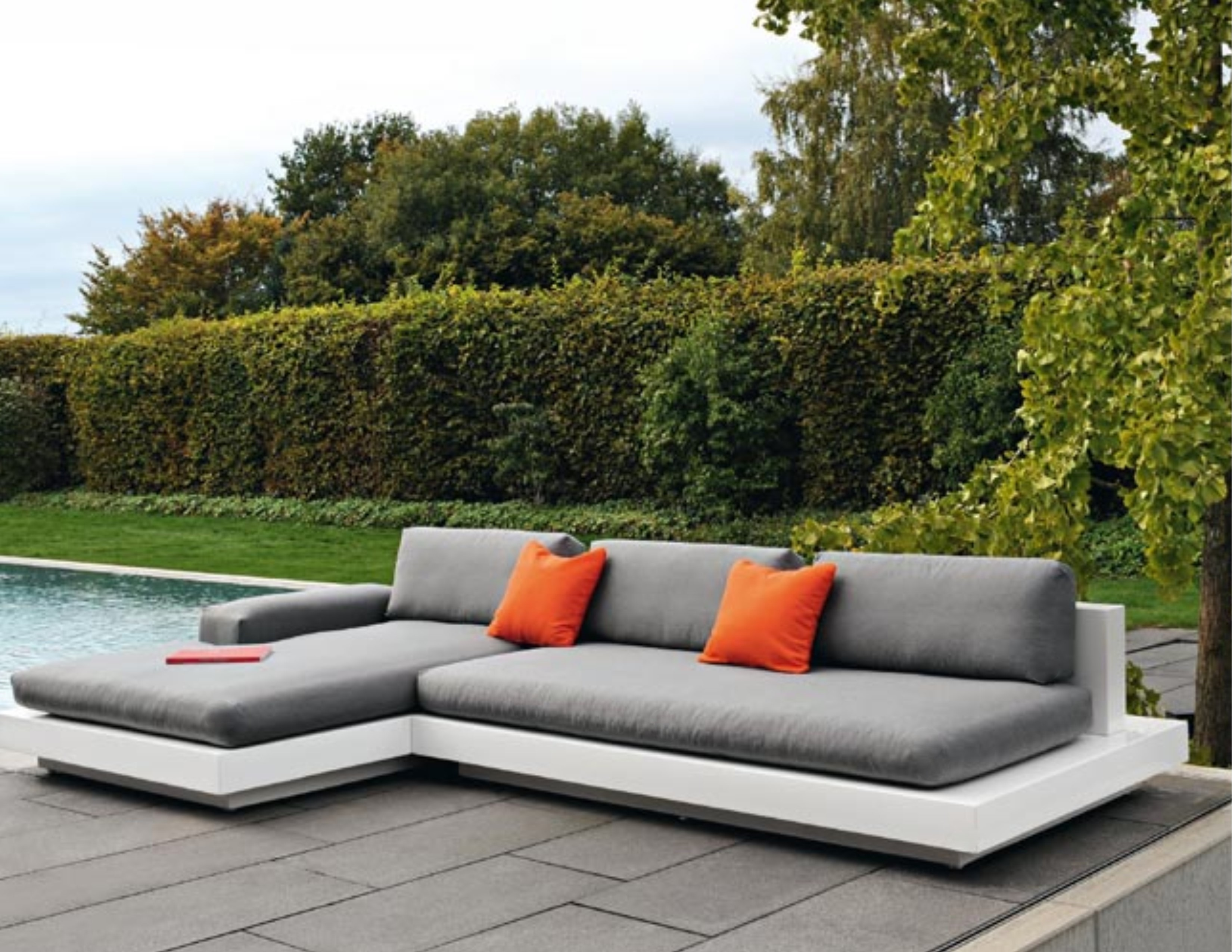 air platform daybed chaise lounge led lights by rausch couture outdoor