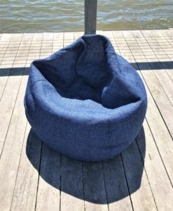 Bean Bag Collection Lounge Chair Tao denim navy blue lux urban trend modern beach farm house hamptons california hotel commercial contract furniture