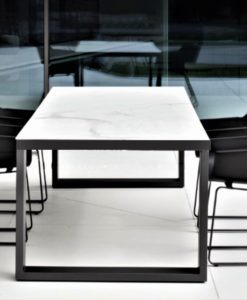 black white ceramic carrera carrara extendable dining table modern luxury large 12 person seating people