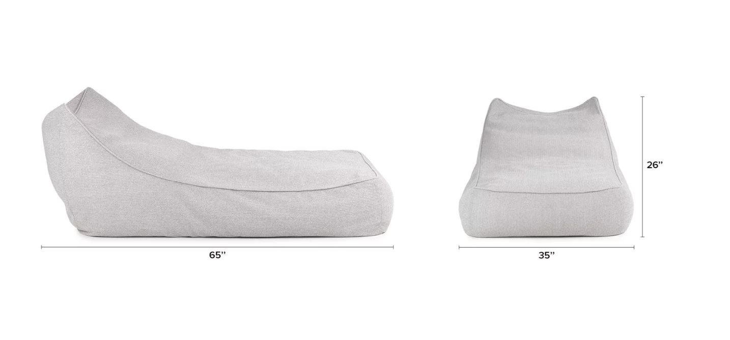 Bean Bag Collection Chaise Lounge Tao Couture Outdoor