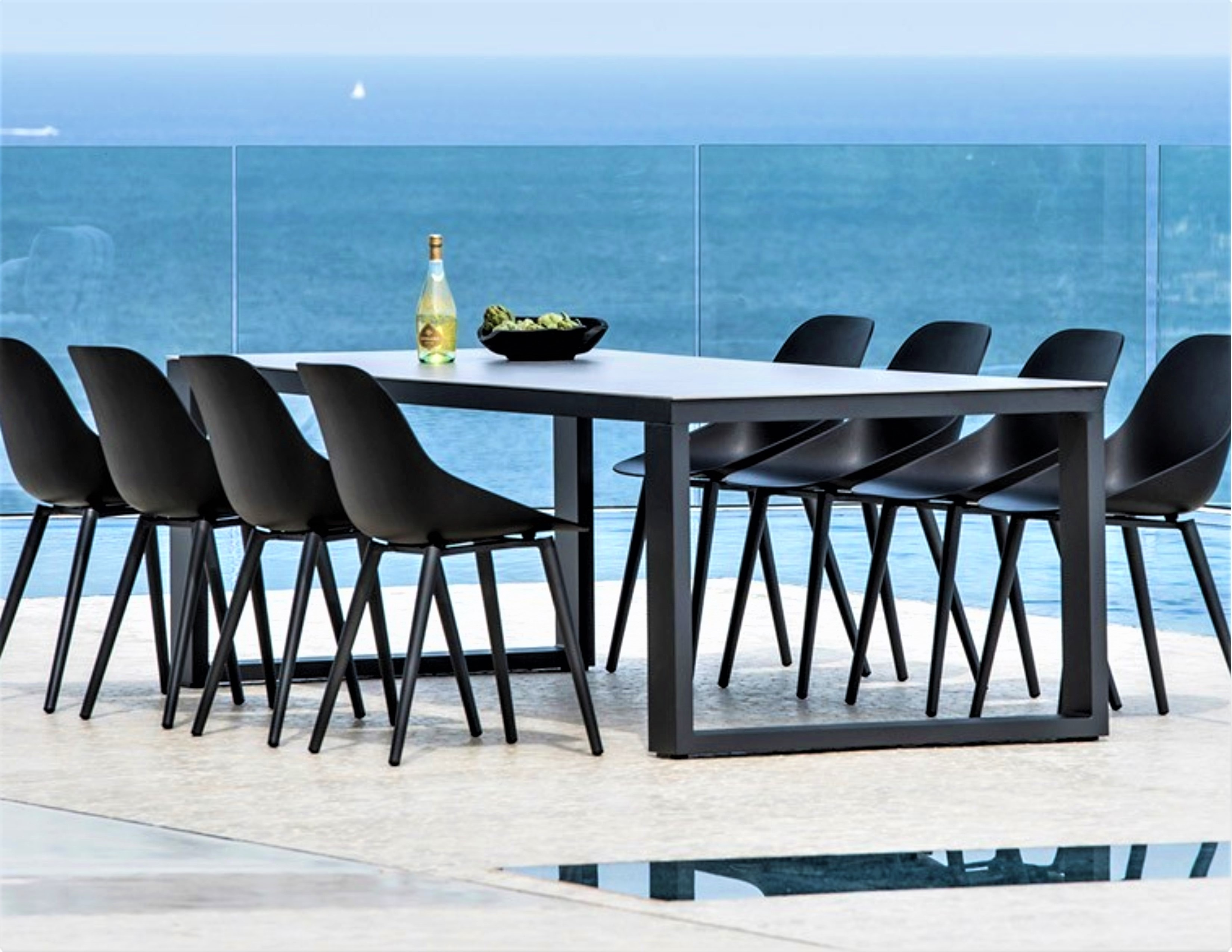 Picture of: Abonne Carrara Ceramic Extendable Dining Table
