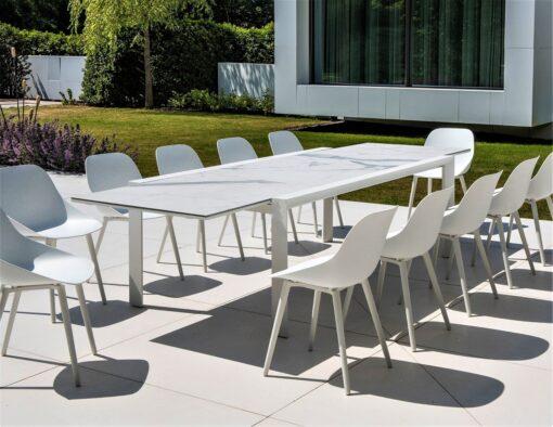 white black carrara carrera marble quartz modern extendalbe dining table