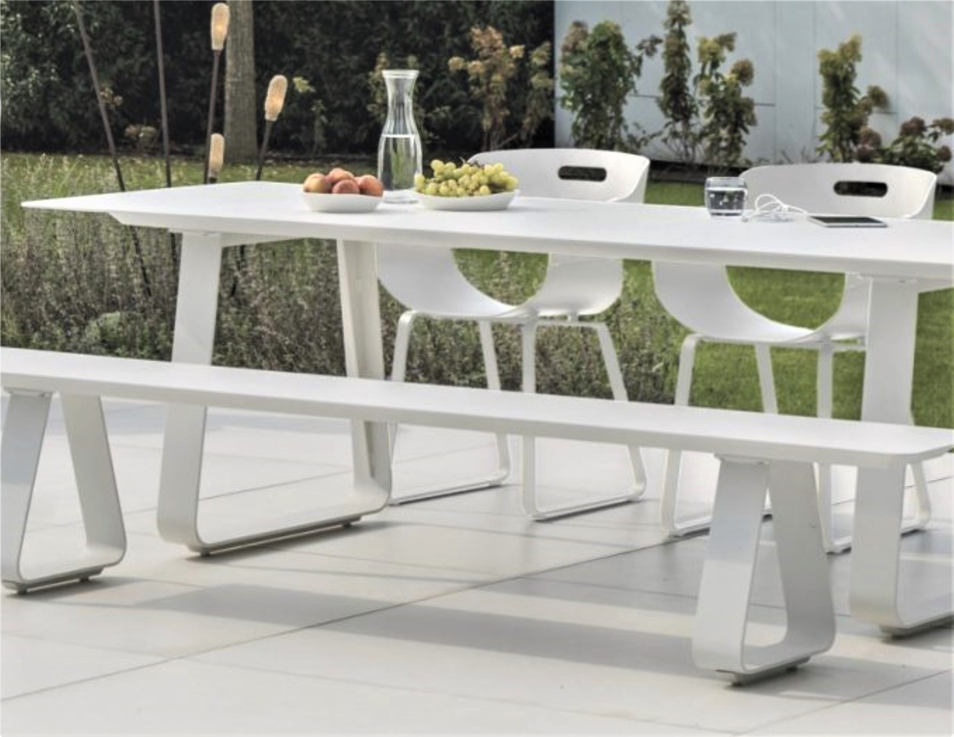 Alfresco Dining Table With Picnic Bench Sitting