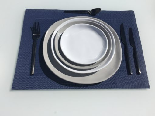 Bryan Glossy Dishes Melamine Plates Gray White Small Medium Large Extra Large Couture Outdoor.jpeg