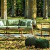 dowel rod teak frame european luxury design 2 seater love seat sofa hamptons palm beach nature