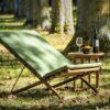 dowel rod teak frame sling strap european luxury design beach club chair hamptons palm beach