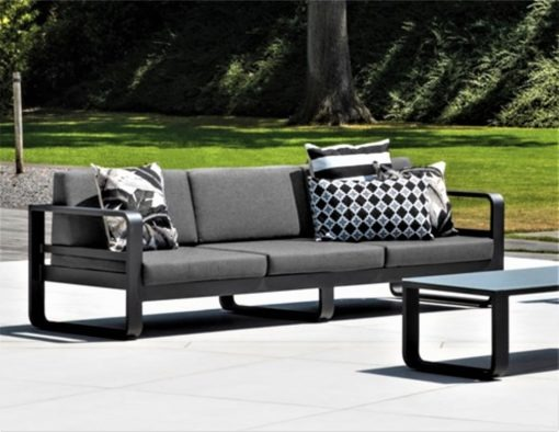 karma 3 seater sofa lounge black white quick dry foam modern lux contract hotel hospitality residential spa