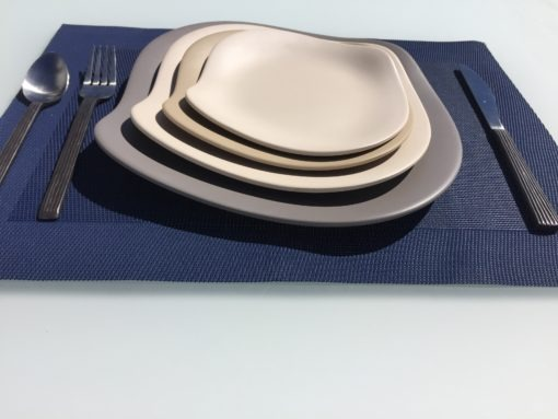 melamine stone plates small medium large extra large stacked dinner couture outdoor