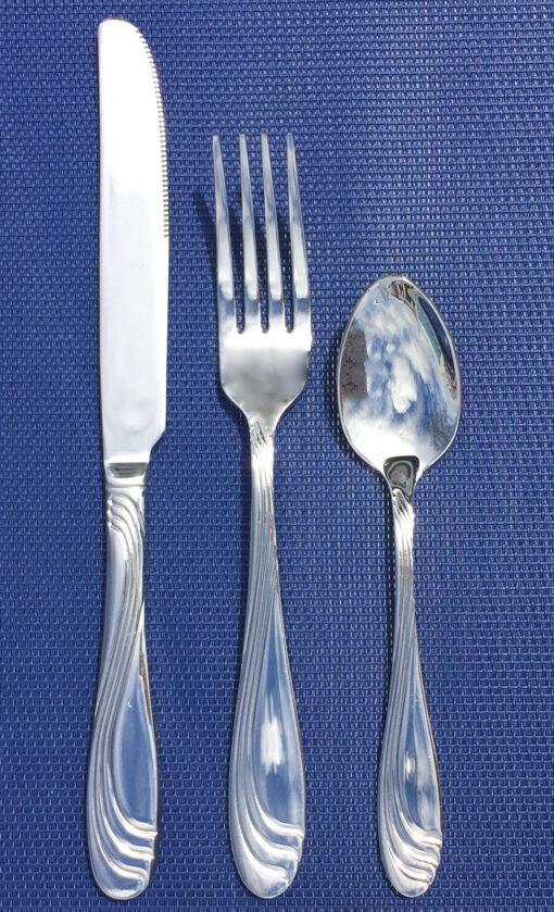 Twirl stainless steel spoon fork knife cutlery