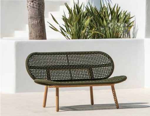 abi teak modern rope weave outdoor sofa chair seating design trending 2020 hotel hospitality contract home palm beach miami california