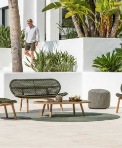 abi teak modern rope weave outdoor sofa chair seating design trending 2020 sofa seat hotel hospitality contract home palm beach miami california