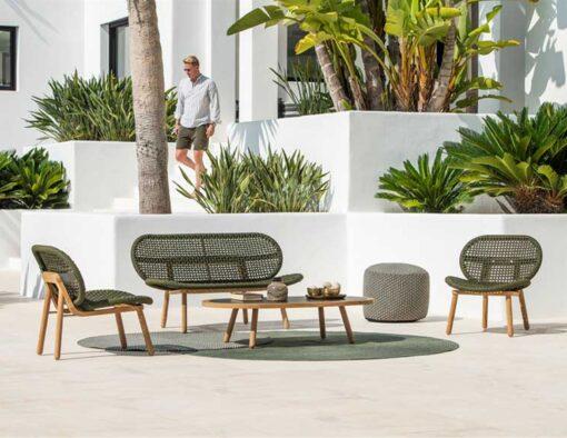 abi teak modern rope weave outdoor sofa chair seating design trending 2020 sofa seat hotel hospitality contract home palm beach miami california